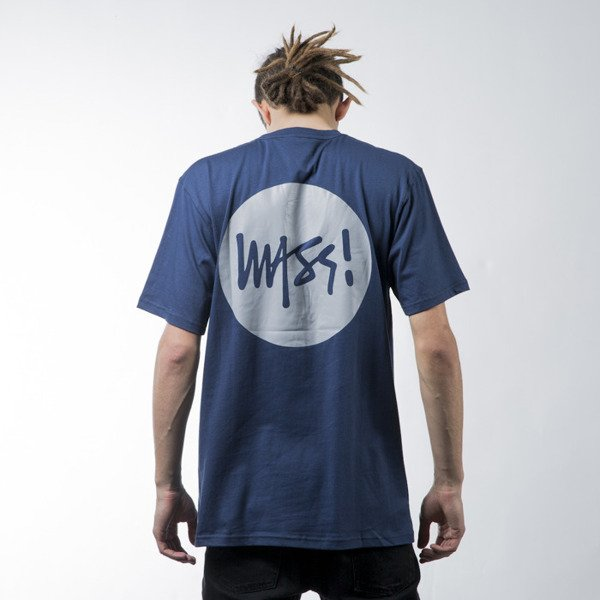 Mass Denim t-shirt koszulka Pocket Signature navy