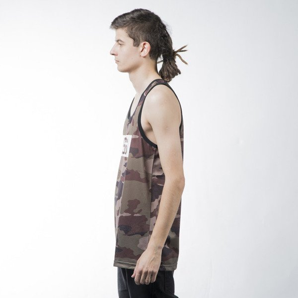 Mass Denim tank top koszulka Battle woodland camo