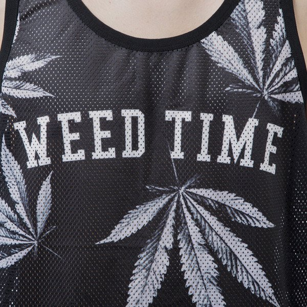Mass Denim tank top koszulka Blvck Weed black