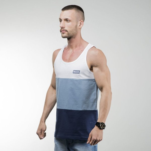 Mass Denim tank top koszulka Horizon steel blue