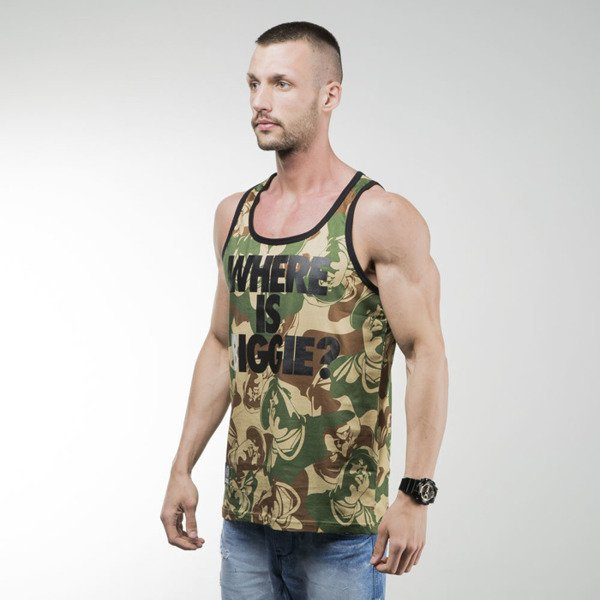 Mass Denim tank top koszulka Where is Biggie camo