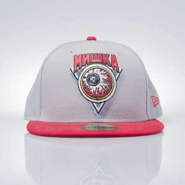 Mishka x New Era czapka Keep Watch or Die grey / red