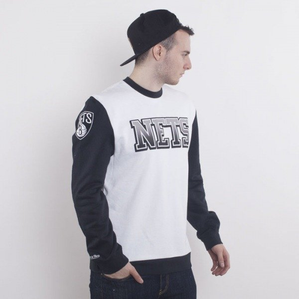 Mitchell & Ness bluza Brooklyn Nets crewneck white Stop On A Dime