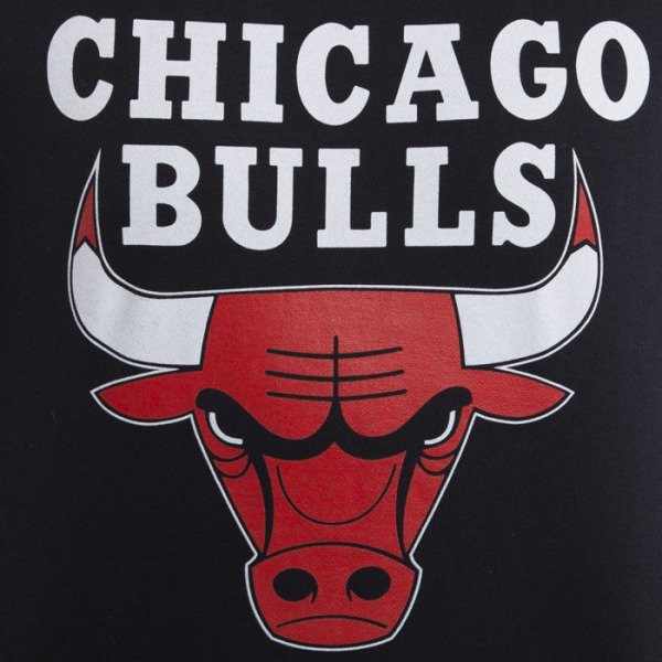 Mitchell & Ness bluza Chicago Bulls Crewneck black Team Logo