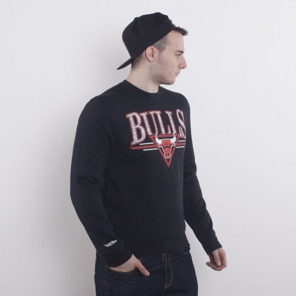 Mitchell & Ness bluza Chicago Bulls crewneck black  Abstract Vibes