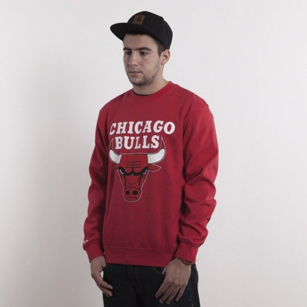 Mitchell & Ness bluza Chicago Bulls red Team Logo