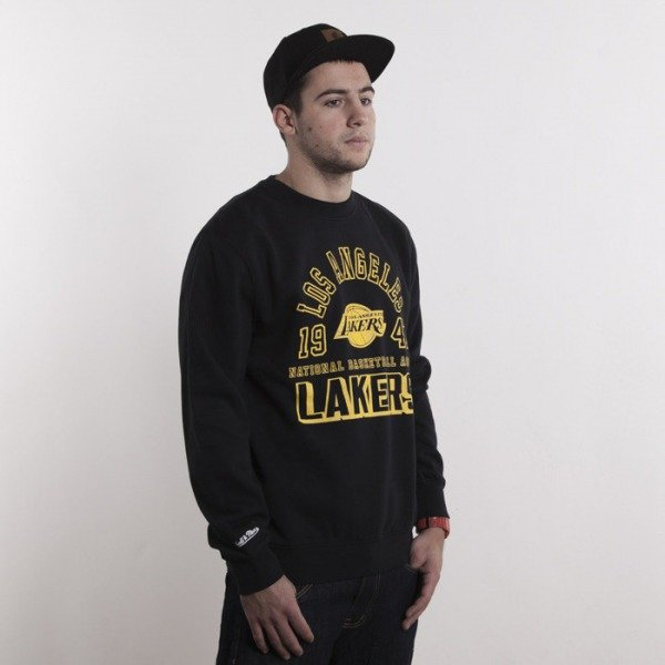 Mitchell & Ness bluza Los Angeles Lakers black Team Established