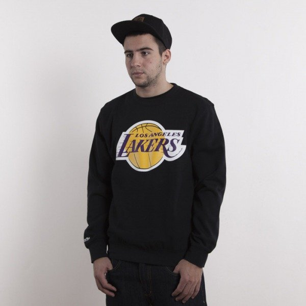 Mitchell & Ness bluza Los Angeles Lakers black Team Logo