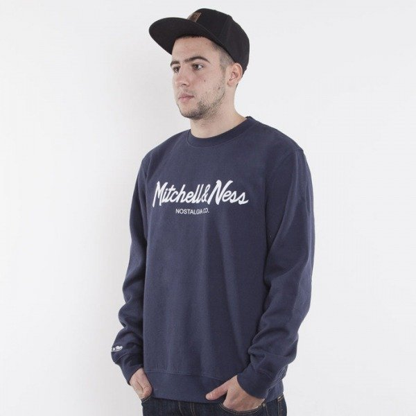 Mitchell & Ness bluza Mitchell&Ness navy / white Special Script