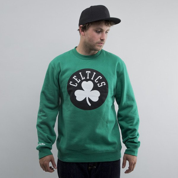 Mitchell & Ness bluza crewneck Boston Celtics green Black and White Logo