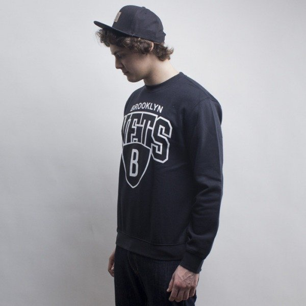 Mitchell & Ness bluza crewneck Brooklyn Nets black Team Arch