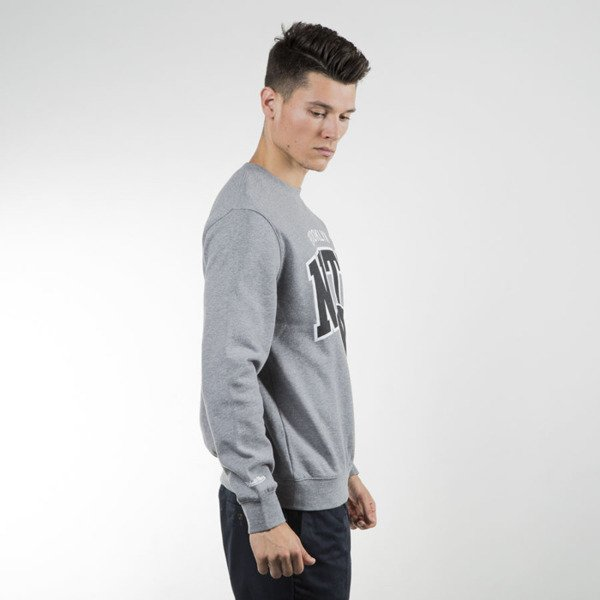 Mitchell & Ness bluza crewneck Brooklyn Nets grey heather Black and White Team Arch