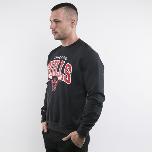 Mitchell & Ness bluza crewneck Chicago Bulls black Team Arch