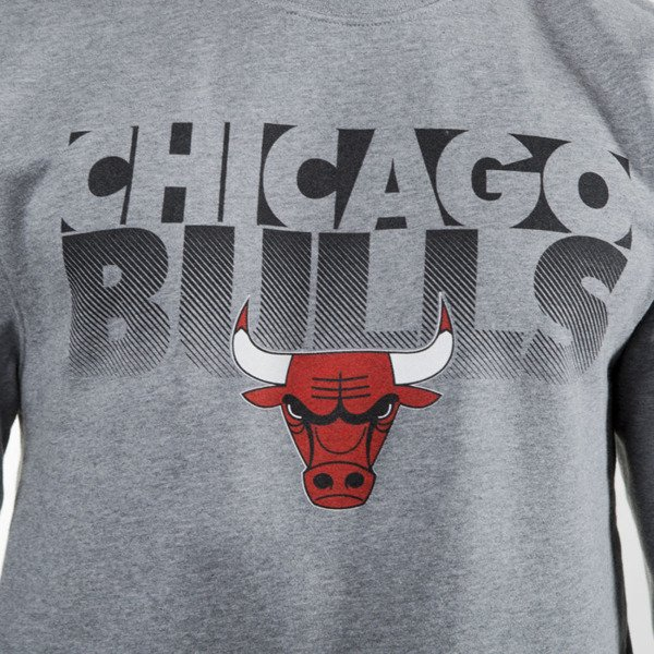 Mitchell & Ness bluza crewneck Chicago Bulls grey heather Team Shadow