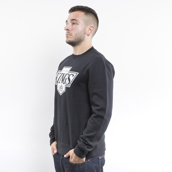 Mitchell & Ness bluza crewneck Los Angeles Kings black Black and White Logo