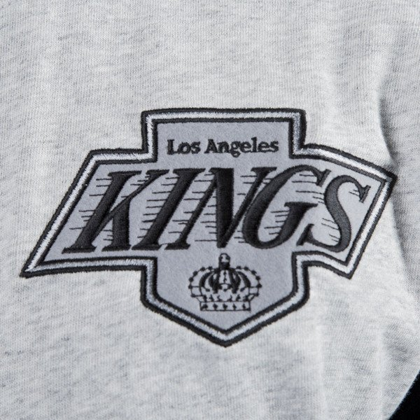 Mitchell & Ness bluza crewneck Los Angeles Kings grey heather / black Team to Beat