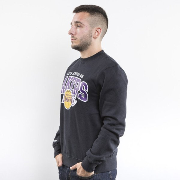 Mitchell & Ness bluza crewneck Los Angeles Lakers black Team Arch