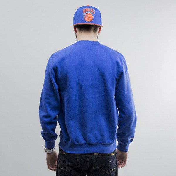 Mitchell & Ness bluza crewneck New York Knicks royal Team Arch