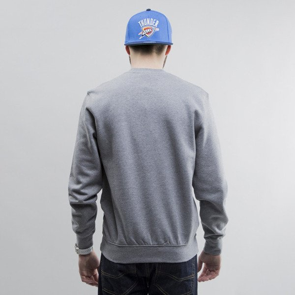 Mitchell & Ness bluza crewneck Oklahoma City Thunder heather grey Team Logo