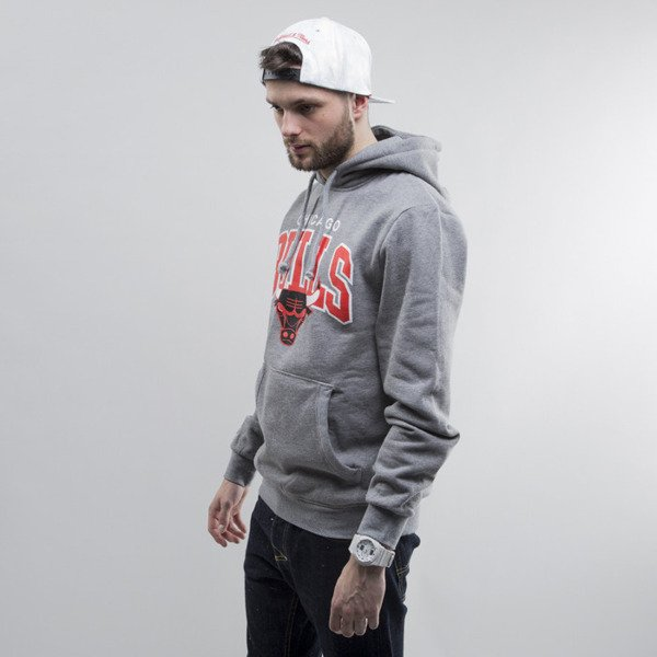 Mitchell & Ness bluza hoody Chicago Bulls heather grey Team Arch