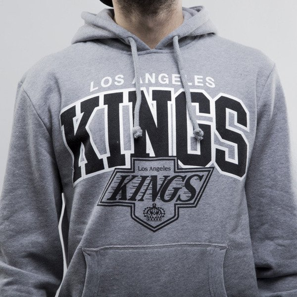Mitchell & Ness bluza hoody Los Angeles Kings heather grey Team Arch