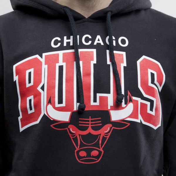 Mitchell & Ness bluza sweathirt Chicago Bulls hoody black TEAM ARCH