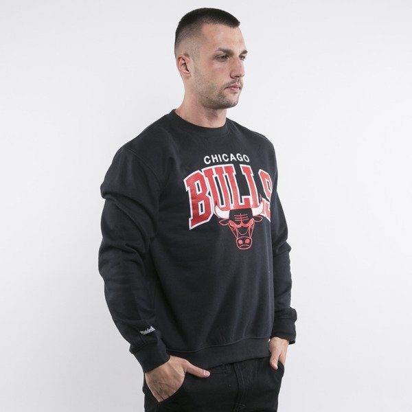 Mitchell & Ness bluza sweatshirt Chicago Bulls crewneck black TEAM ARCH