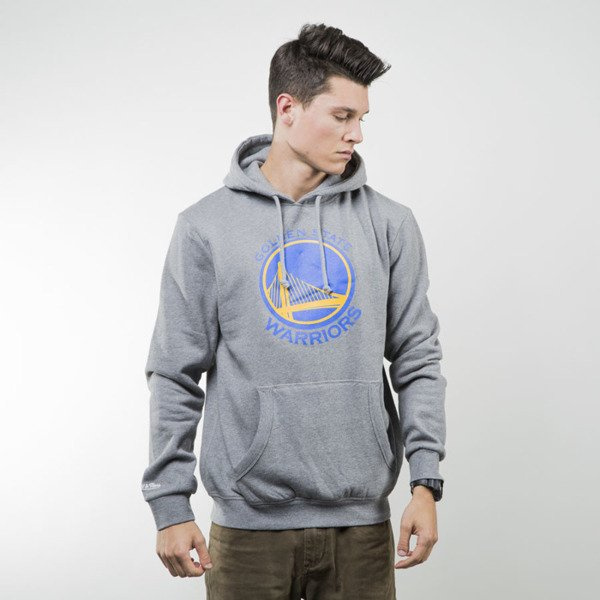 Mitchell & Ness bluza sweatshirt Golden State Warriors hoody grey TEAM LOGO