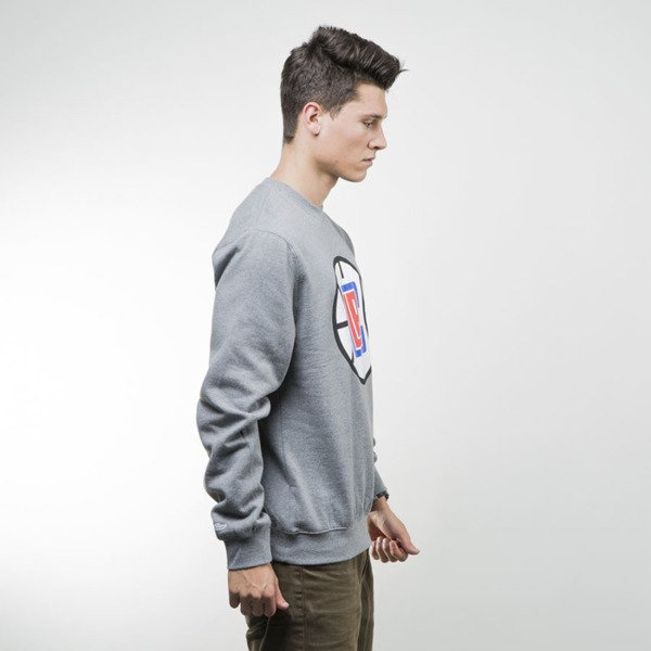 Mitchell & Ness bluza sweatshirt Los Angeles Clippers crewneck grey heather TEAM LOGO