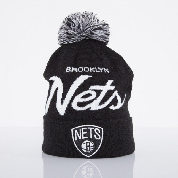 Mitchell & Ness czapka Brooklyn Nets black Special Script Knit Bobble