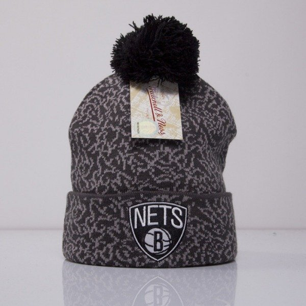Mitchell & Ness czapka Brooklyn Nets grey Cracked Pattern KL79Z