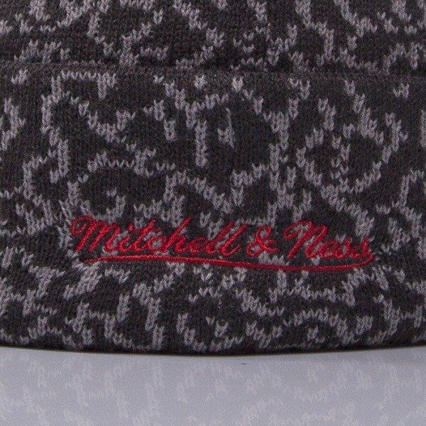 Mitchell & Ness czapka Chicago Bulls grey Cracked Pattern KL73Z