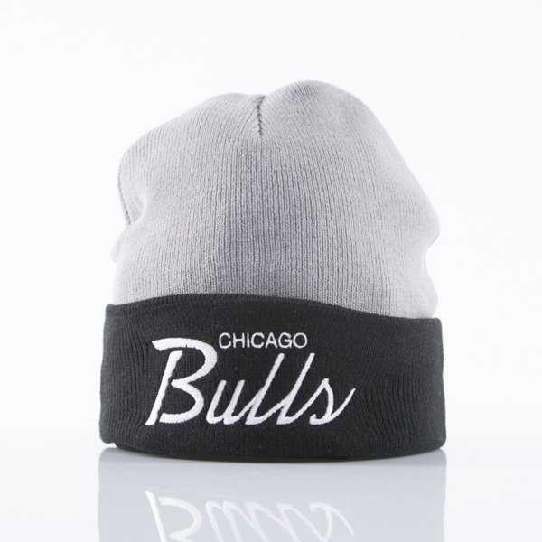 Mitchell & Ness czapka Chicago Bulls grey/black 2Tone Cuff EU174