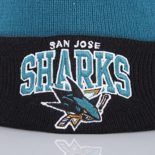 Mitchell & Ness czapka San Jose Sharks teal Arched Cuff Knit