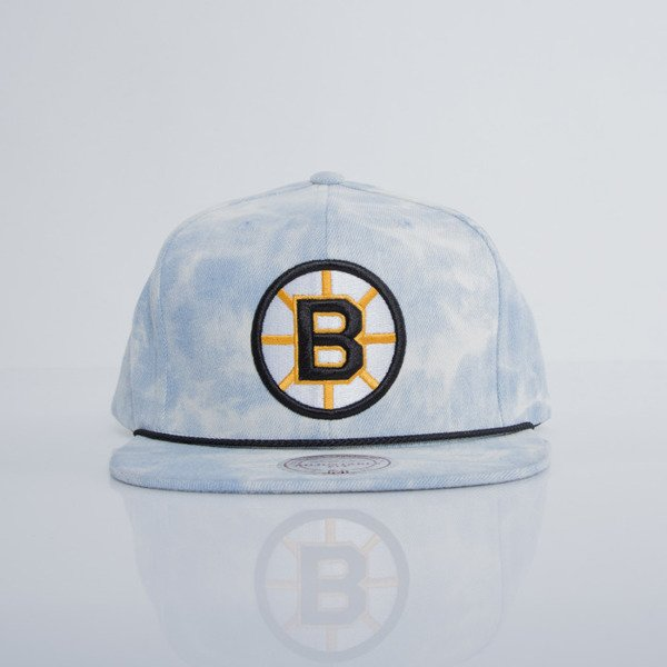 Mitchell & Ness czapka snapback Boston Bruins blue / white SOLID TEAM COLOUR VE99Z