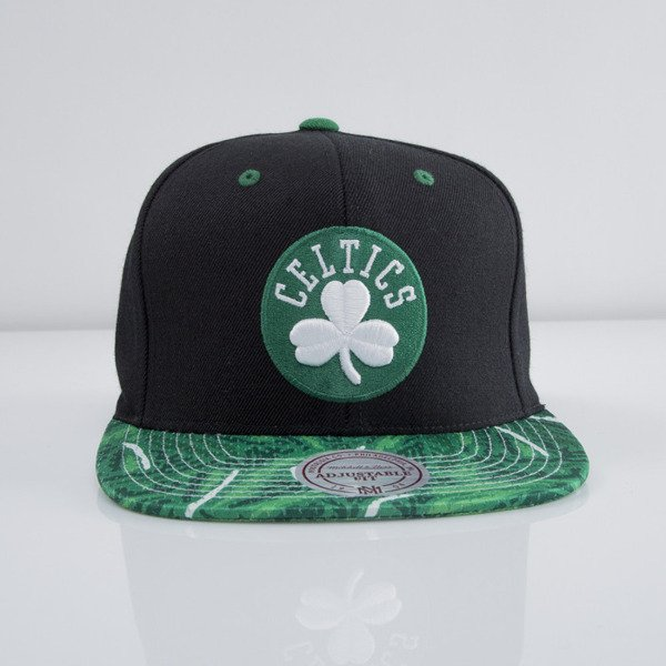 Mitchell & Ness czapka snapback Boston Celtics black Stroke Camo VF38Z