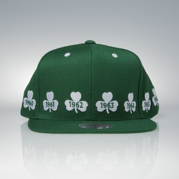 Mitchell & Ness czapka snapback Boston Celtics green 1959-1966 NBA Champions V094Z