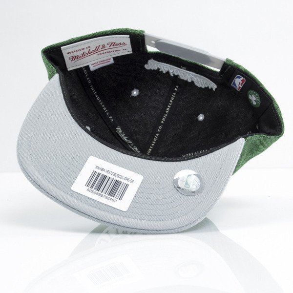 Mitchell & Ness czapka snapback Boston Celtics green Denim Harry VE87Z