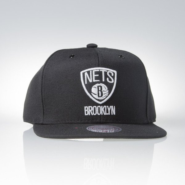 Mitchell & Ness czapka snapback Brooklyn Nets black Black White EU901