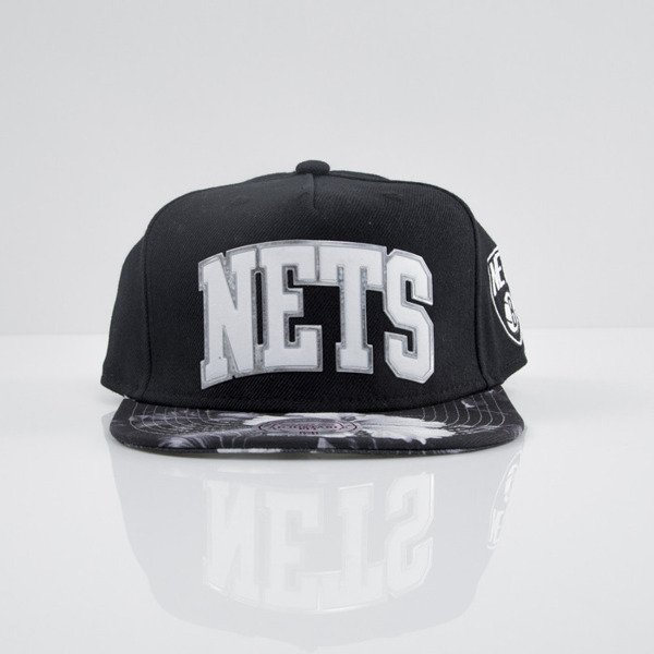 Mitchell & Ness czapka snapback Brooklyn Nets black Tropical Visor Sonic EU665