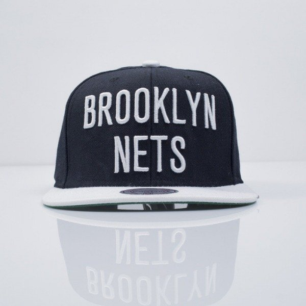 Mitchell & Ness czapka snapback Brooklyn Nets black XL Logo 2Tone NM04Z