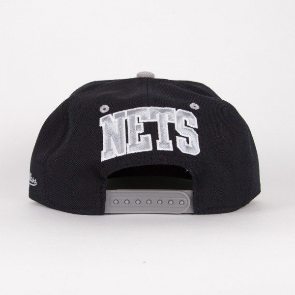 Mitchell & Ness czapka snapback Brooklyn Nets black / grey Flipside