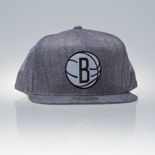 Mitchell & Ness czapka snapback Brooklyn Nets grey HYDRO EU843