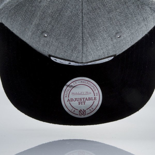 Mitchell & Ness czapka snapback Brooklyn Nets grey heather / black VO59Z HEATHER MICRO