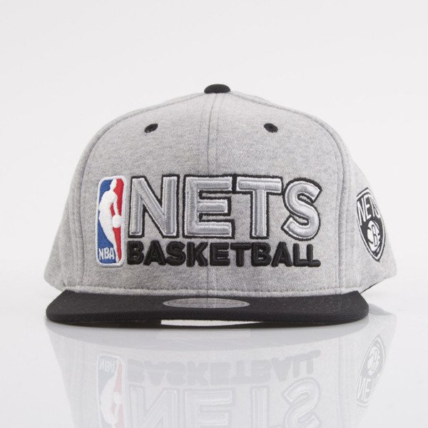 Mitchell & Ness czapka snapback Brooklyn Nets heather grey Heather Jersey VJ92Z
