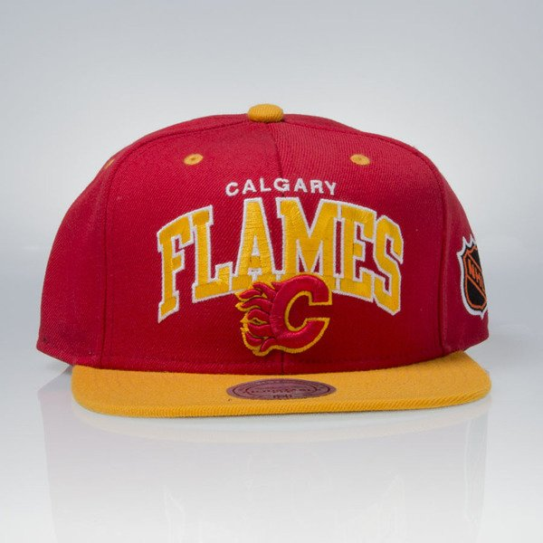 Mitchell & Ness czapka snapback Calgary Flames red TEAM ARCH ND12Z