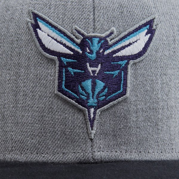 Mitchell & Ness czapka snapback Charlotte Hornets heather grey EU438 BACKBOARD