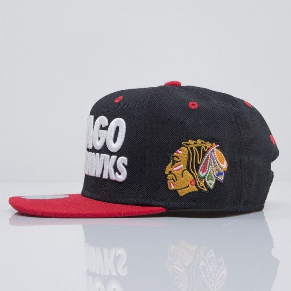 Mitchell & Ness czapka snapback Chicago Blackhawks black Score EU300