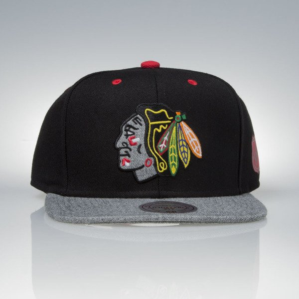 Mitchell & Ness czapka snapback Chicago Blackhawks black / grey Greytist EU938