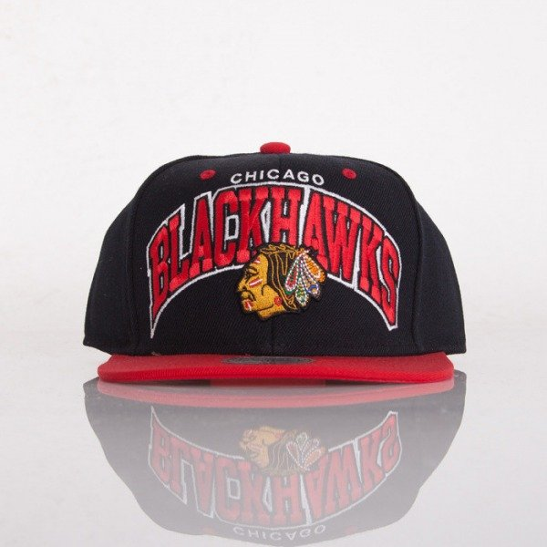 Mitchell & Ness czapka snapback Chicago Blackhawks black / red Doubleup